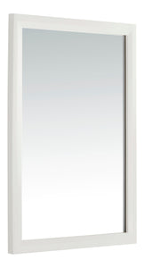 "Urban Loft 22"" x 30"" Bath Vanity Dcor Mirror in Soft White"