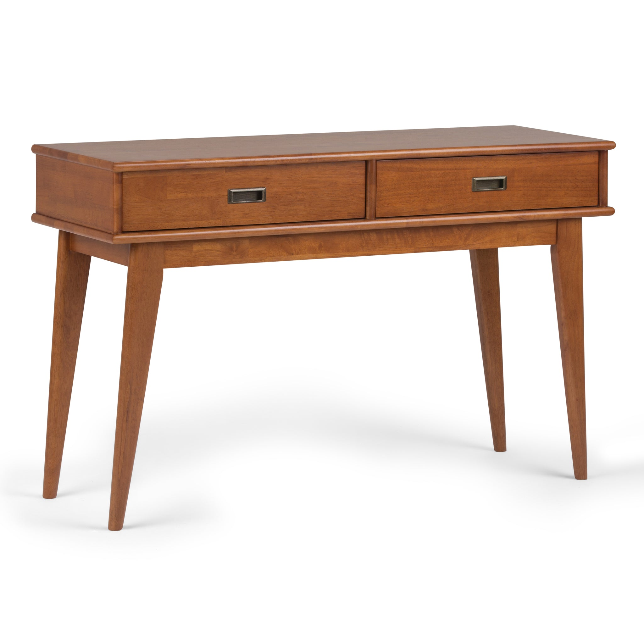 Draper Mid Century Solid Hardwood Console Sofa Table in Teak Brown