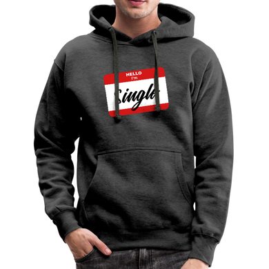 Hello, I'm Single Hoodie - charcoal