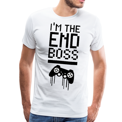 I'm The End Boss Tee - white