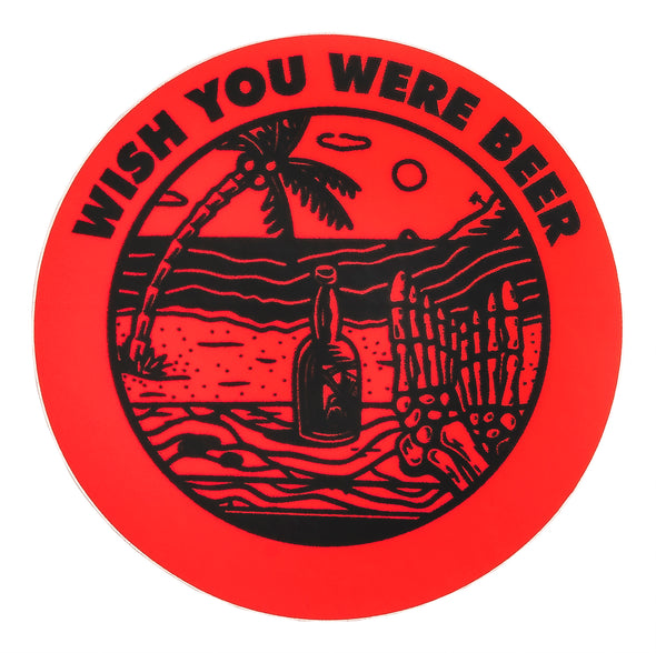 Last Call Co. Wish You Were Beer Sticker