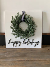Load image into Gallery viewer, Happy Holidays Wood Sign