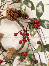 Load image into Gallery viewer, Iced Holly Berry Wreath