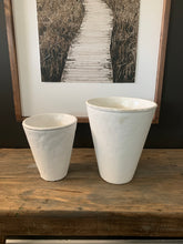 Load image into Gallery viewer, Rustic White Vase-Small