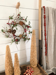 Iced Holly Berry Wreath