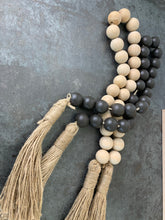 Load image into Gallery viewer, Wood Bead Garland In Natural Or Charcoal