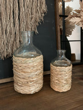 Load image into Gallery viewer, Rattan Wrapped Vase Set