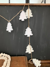 Load image into Gallery viewer, White Fuzzy Tree Garland