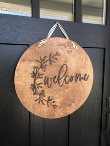 Wood Welcome Wreath