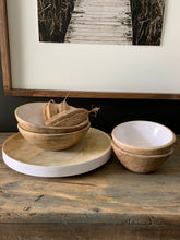 Load image into Gallery viewer, Mango Wood Bowls W/White Enamel-Small