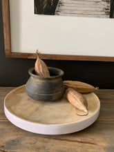 Load image into Gallery viewer, Mango Wood Tray W/ White Trim