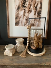 Load image into Gallery viewer, Chunky Whitewashed Wood Candleholder Set