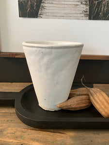 Rustic White Vase-Small