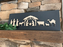 Load image into Gallery viewer, Nativity Scene Wood Sign
