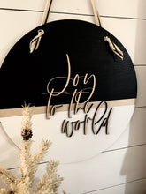 Load image into Gallery viewer, Joy To The World Wood Sign