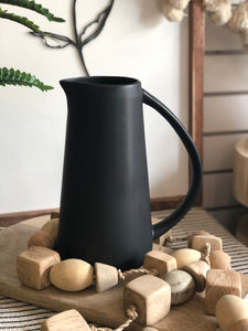 Modern Black Matte Ceramic Pitcher