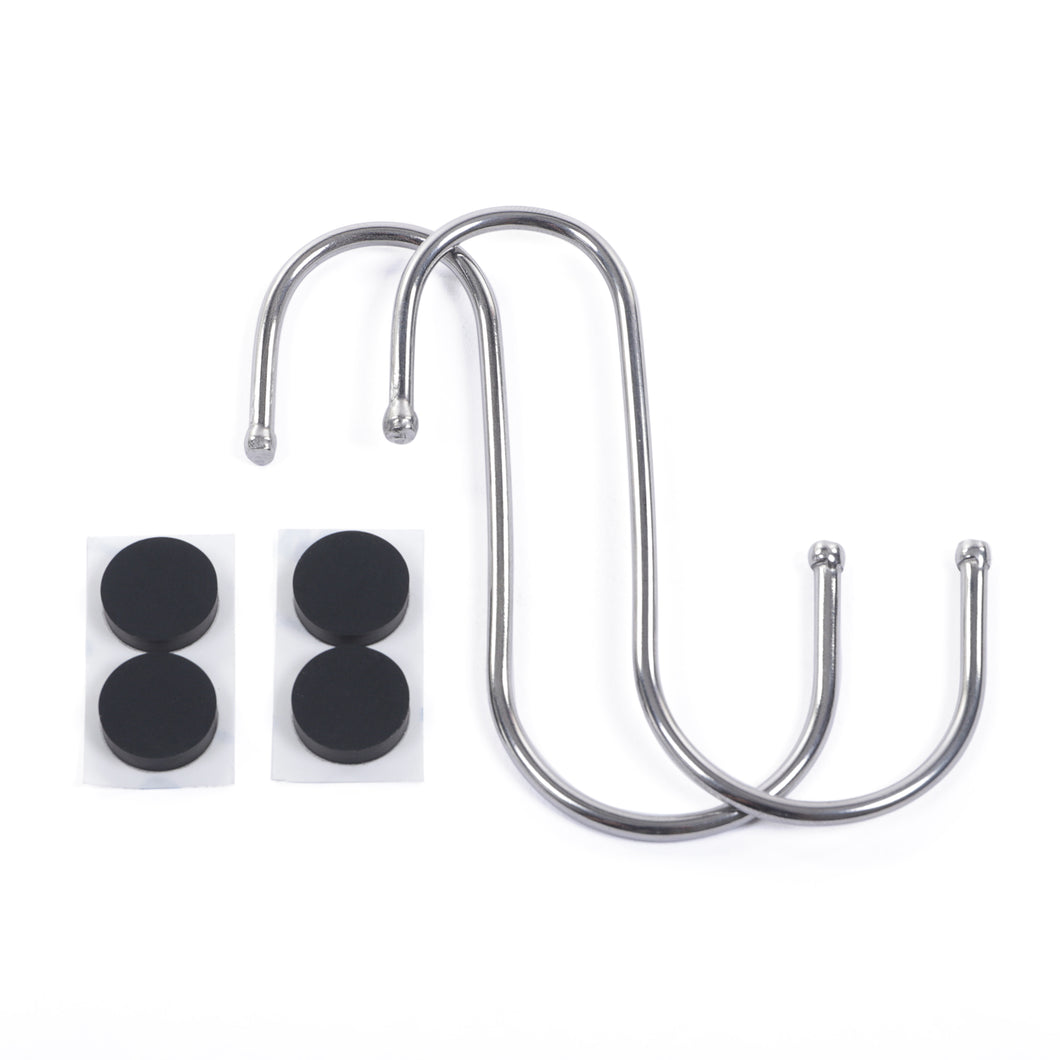 Extra Stainless Steel S-Hooks (2) + Lid Spacers (4) for Lid-L-Buddy™