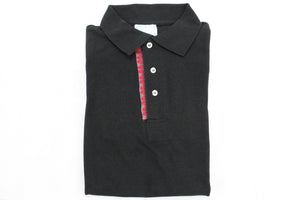 Playera cuello Polo - Negra 1