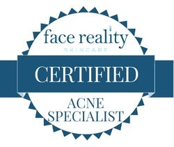 Small Certified Acne Specialist Badge (White Background)