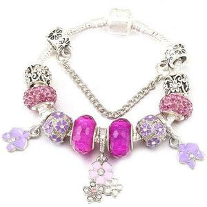 "Bracelet Charm "" Flowers""-OUI Deals"