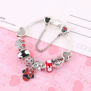 Bracelet Charm Mickey et Minnie-OUI Deals