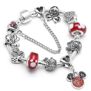 "Bracelet Charms ""Mickey et Minnie""-OUI Deals"