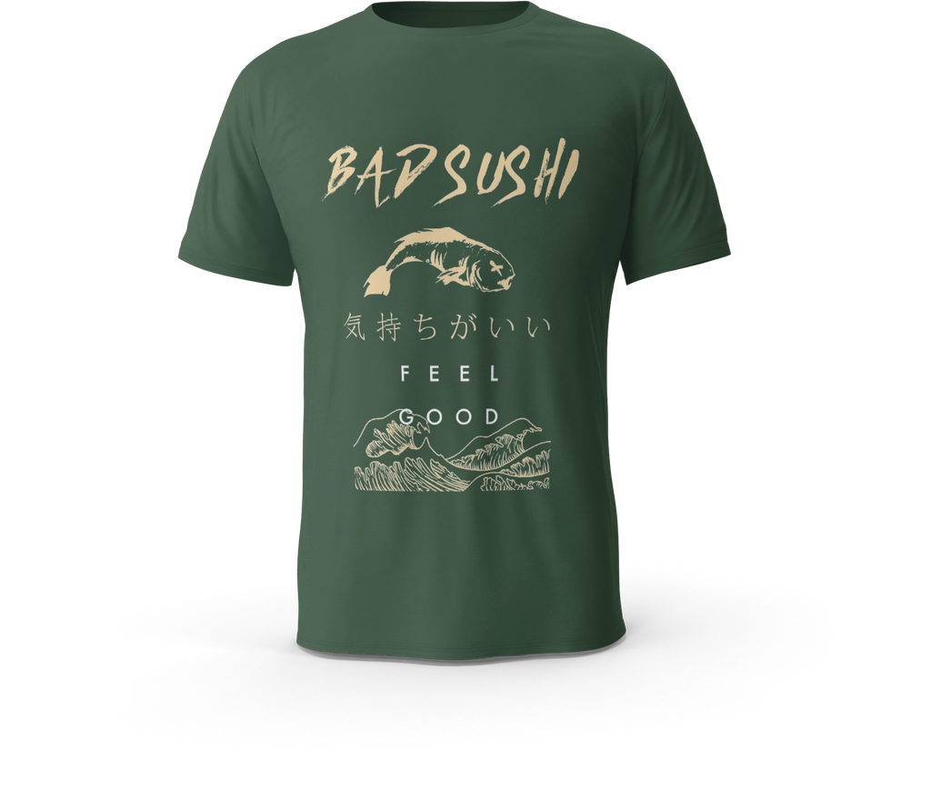 BAD SUSHI TEE (FOREST)