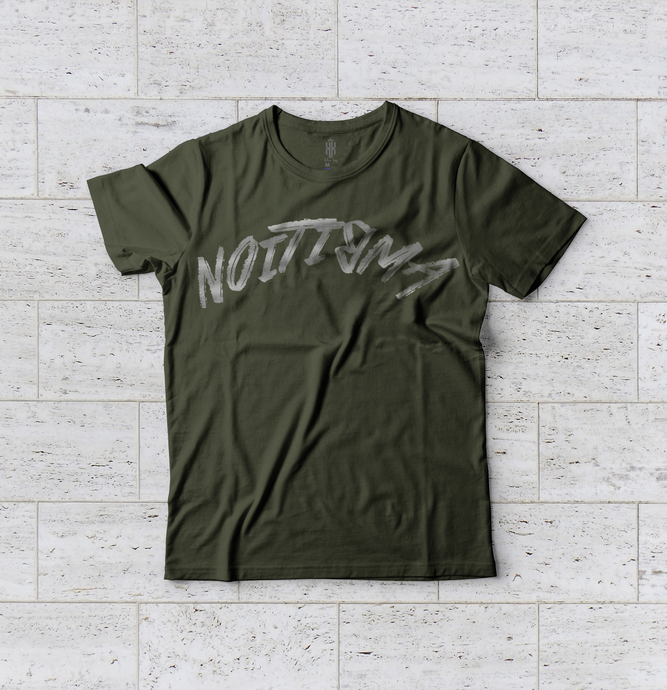 Ambition Reflective Tee - Army Green