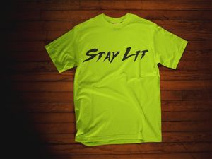Stay Lit Tee Shirt (Reflective Print)