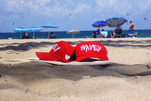Wavey Dad Cap Red