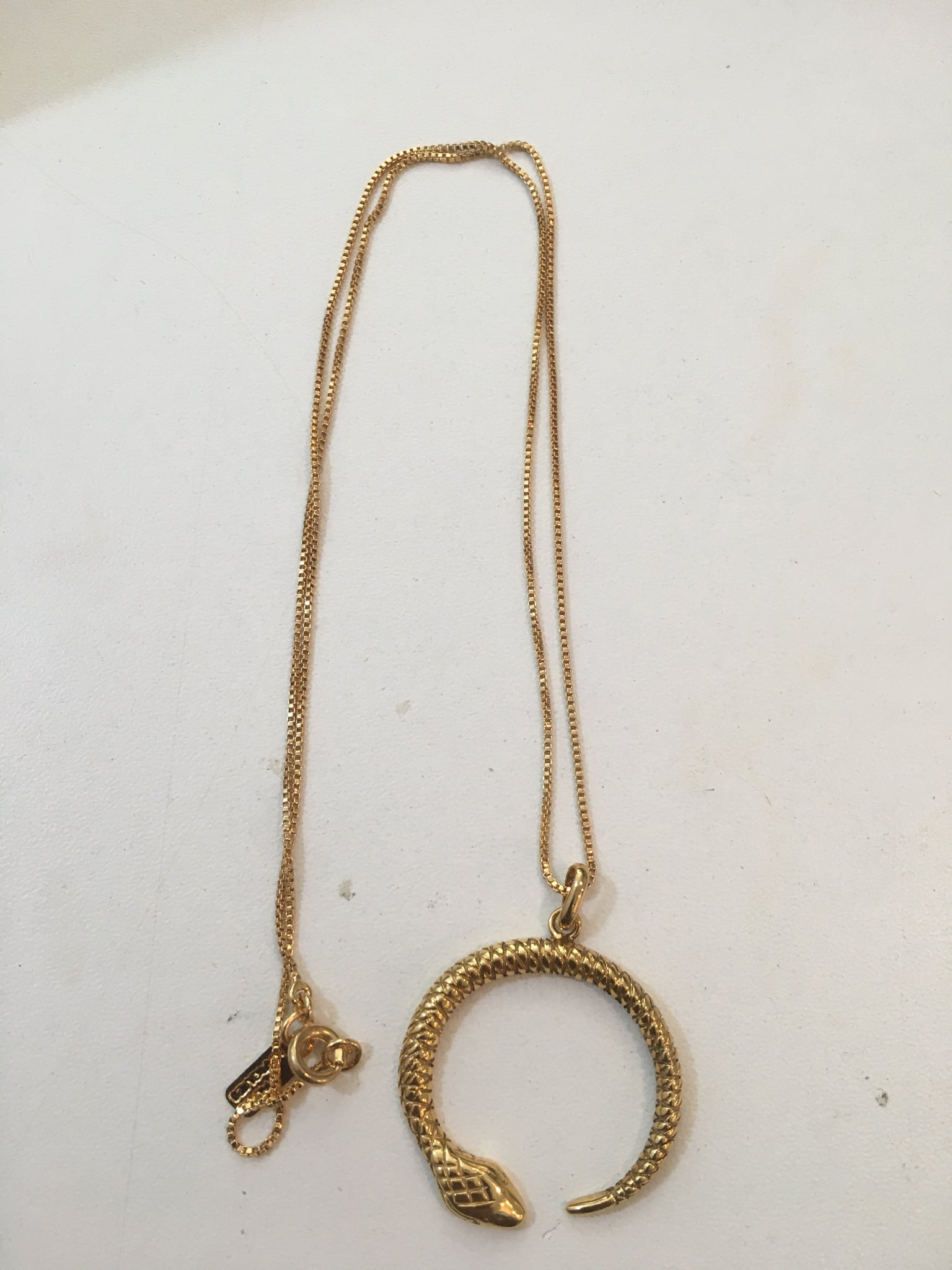 Gold Serpent Necklace