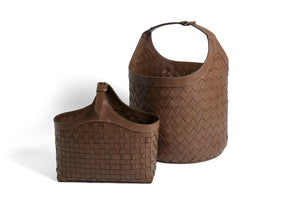 LEATHER ORGANIZER BASKET