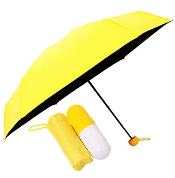 Ultra Light Compact & Small Umbrella with Cute Capsule Case Waterproof Ultra Protective UV Mini Umbrellas