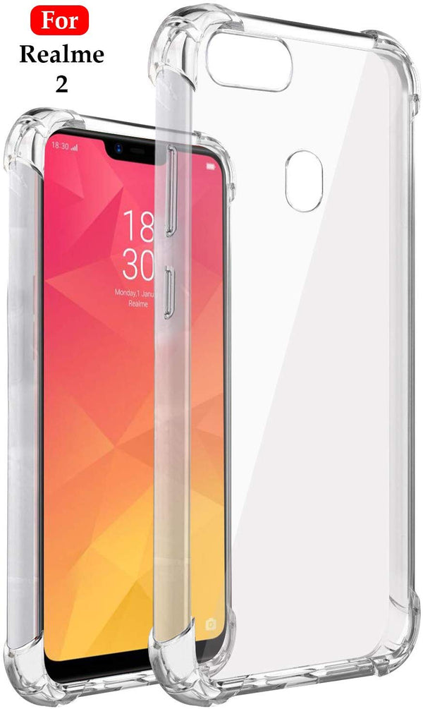 BumperCorner Soft Silicon Shockproof Flexible Rubber Back Case Cover for Oppo Realme 2 (Transparent) - the factory forum