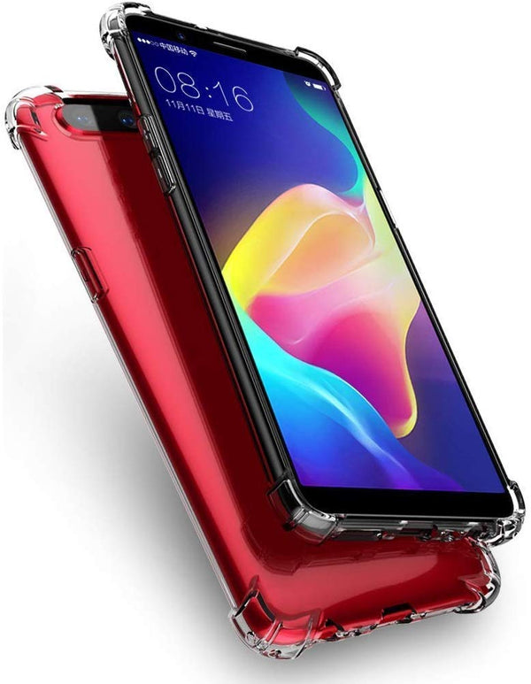 Flexible Shockproof TPU Crystal Clear Soft Back Cover with Cushioned Edges for Oppo F9 (Transparent) - the factory forum