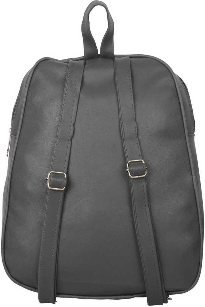 PU Leather Girls College Bag in School Bag 4 L Backpack (grey) 4 L Backpack