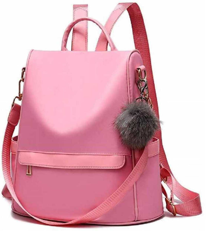 TFF Girls Fashion Backpack Cute Mini Leather Backpack Purse for Women Pink