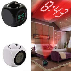 New Fashion Attention Projection Digital Weather LCD Snooze Alarm Clock Projector Color Display LED Backlight Bell Timer - the factory forum