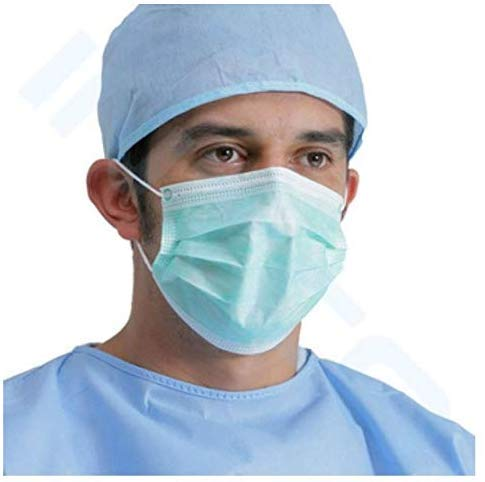 Mask-3ply Disposable Mouth Masks Nose Mask Dust Mask Pollution Mask (Color May Vary)
