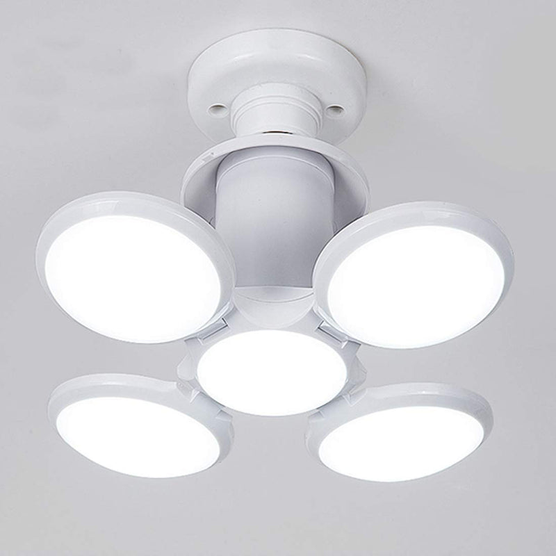 Foldable Light, Football LED Light Bulb, Super Bright Angle Adjustable Home Ceiling Lights, AC95-265V, Cool White Light (60)