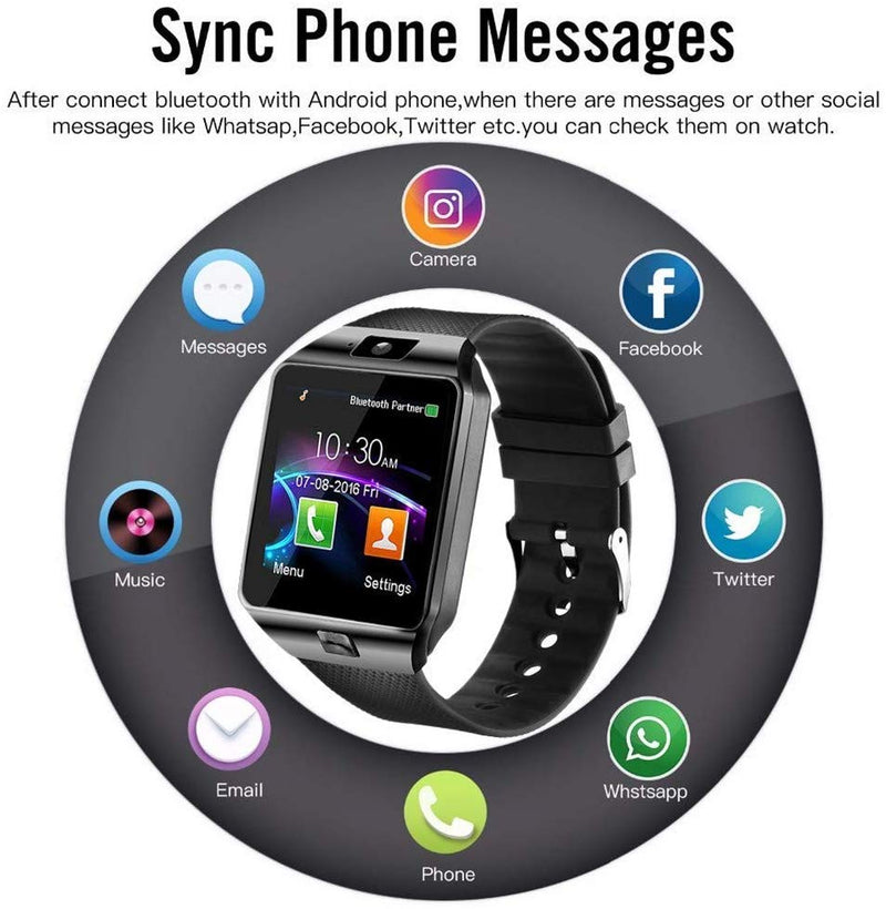 Bluetooth DZ09 Smartwatch Anti-Lost Support GSM SIM TF Card Phone Call Smart Watch With HD Camera LCD Color Screen - the factory forum