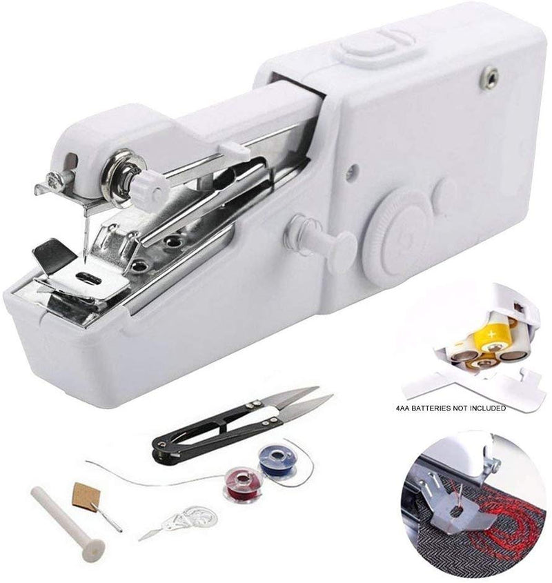 Mini Handy Sewing Machine Set Portable Household Cordless Electric Quick Stitch Sew Needlework Clothes Fabrics - the factory forum