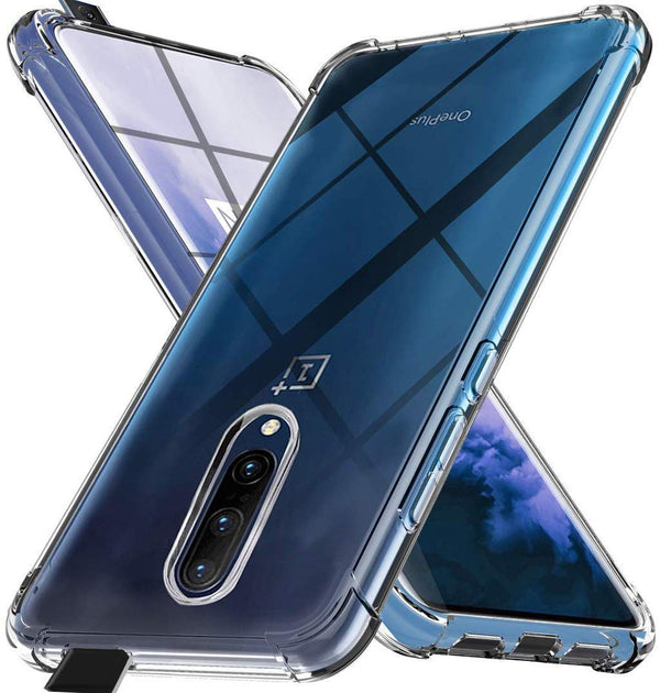 Silicon Flexible Shockproof Corner TPU Back Case Cover For OnePlus 7 Pro -Transparent - the factory forum
