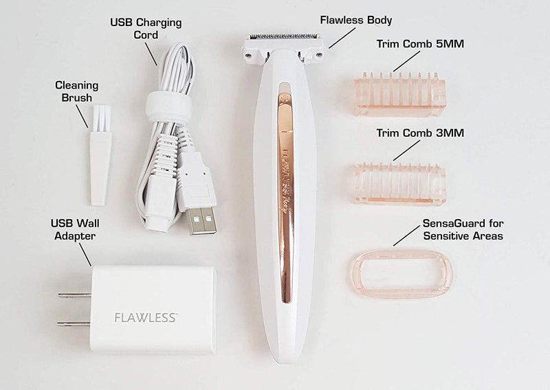 New Electric Lady Shaver Razor Flawless Body Hair Shaver Painless Bikini Trimmer USB Rechargeable Fast Hair Shaving Machine - the factory forum