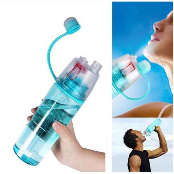 2 in 1 Drink & Mist Water Bottle | Spray Water Bottle, 600 ML