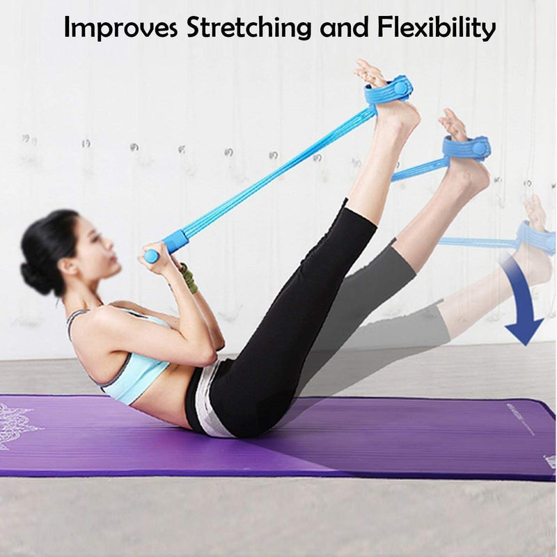 Pull Rope Ab Exerciser Tummy Trimmer for Men & Women with 4 Resistance Tube - the factory forum