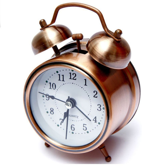 Double Twin Bell Vintage Retro Alarm Clock Loud Alarm for Heavy Sleeper Old Fashioned Table Clock with Backlight Home Decorative - the factory forum