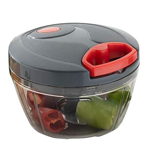 Manual Food Chopper, Compact & Powerful Hand Held Vegetable Chopper/Blender to Chop Fruits and Vegetables (Multi Color)