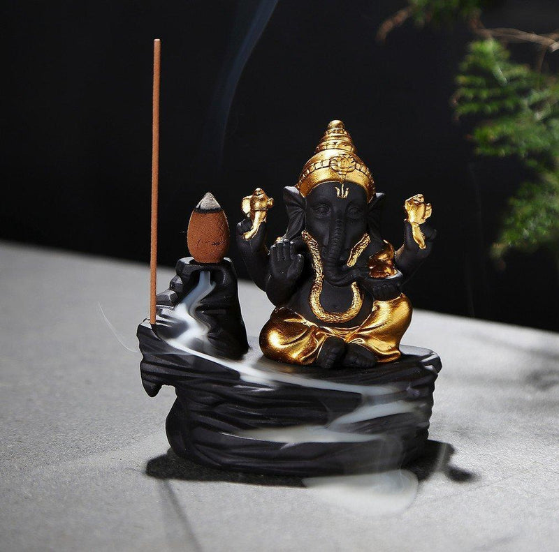 Lord Ganesha Backflow Smoke Fountain nd Incense Burner with 30 Bckflow Incense Cones - the factory forum