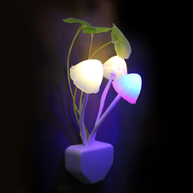 Light Sensitive LED Color-Changing Mushroom Night Light (Set of 2) - the factory forum